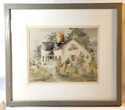 Country Cottage Painting Barbara Burnett MWS Watercolor Art Limited 28/200 1988