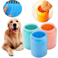 Portable Dog Paw Clean Plastic Washing Brush Cleaning Cup Dog Foot Clean Feet M