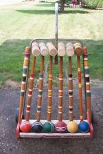 Vintage Croquet Set By Lawnplay South Bend Indiana Yard Game Local Pickup Only