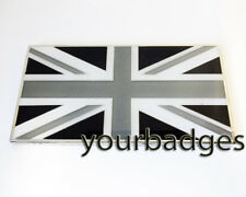 Monochrome Enamel Union Jack FLAG car badge Land Rover Jaguar UK