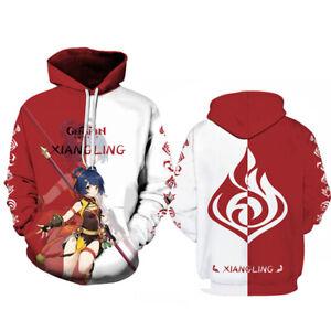 Genshin Impact Mona Klee Ke Qing Hooded Sweatshit Casual Hoodie Pullover Costume