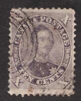 #17b - Canada - 1859 - 10 Cent stamp - Used - F/VF - superfleas