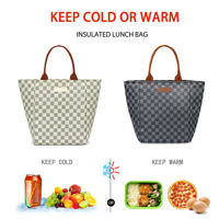 WODKEIS Insulated Lunch Bag Portable Thermal Cooler Food Tote for Woman&Man 10L