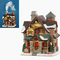 Lemax Village Collection 2020 CHESTNUT CABIN #05641 Chimney Really Smokes