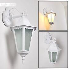 Hof Terrasse Veranda Lampe weiß Garten Leuchten Milchglas Außen Wand Beleuchtung