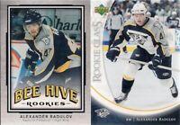 Dallas Stars Alexander Radulov 2 Card Rookie Lot 2007 UD Rookie Class & Bee Hive