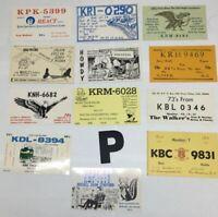 P Vintage USA QSL Radio Card Cartoon Graphics Lot of 12 1960s 1970s No Duplicate