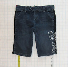 Guess sz 12 Girls Blue Jeans Denim Shorts Stretch C0866