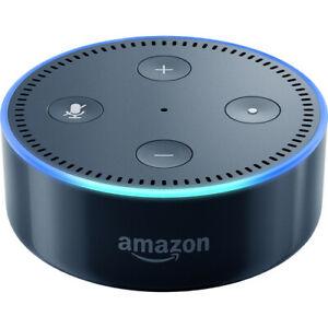 Amazon Echo Dot (2nd Generation) Smart Speaker with Alexa in Black