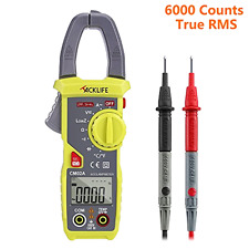 New Digital Multimeter 600 Amp Clamp Meter, AC DC Voltage and Temperature Meter