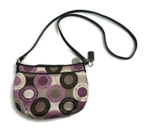 Coach Alexandra Snaphead Zip Top Crossbody Purple Satin Leather Bag F46533