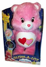 Care Bears Glow-a-Lot Love-a-Lot Bear * Entièrement neuf dans sa boîte * Glow in the Dark plush pink