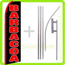 Barbacoa Swooper Flag Kit Feather Flutter Banner Sign 15' Set - q
