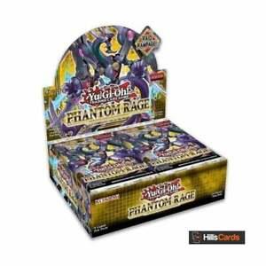 YuGiOh Phantom Rage Sealed Booster Box of 24 Packs | 1st Edition TCG Cards PHRA