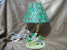 Dream Works Lamp by Hampton Bay Madagascar Movie - Marty the Zebra - Works!