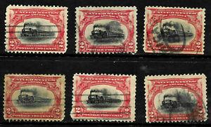 Sc #295 Collection Pan Am 2 Cent 1901 US 85D51