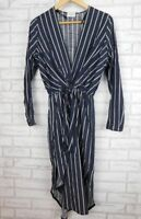 Sheike Shirt dress Sz 10 Black, grey stripe