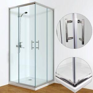 Duschkabine Eckeinstieg Schiebetür Duschabtrennung Duschwand mit/ohne Duschtasse