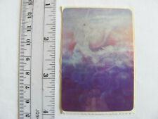 Large Vintage Acard Stickermania Unicorn Pegasus Glossy Sticker - Violet Tone