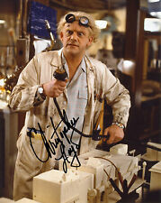 REPRINT CHRISTOPHER LLOYD 4 Back to the Future autographed signed photo
