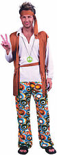 Adult Mens 60s 70s Hippie Hippy Man Groovy Woodstock Fancy Dress Costume Outfit