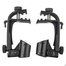 New 2pcs Microphone Holder Drum Hoop Rim Mount Shock Mount Mic holder Clip