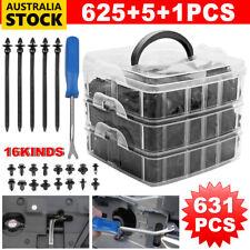 631PC Car Body Trim Clips Retainer Bumper Auto Plastic Rivet Screw Fastener Kit