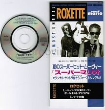 """ROXETTE Almost Unreal(from Super Mario)/The Heart Shape Sea JAPAN 3""""CD TODP-2415"""