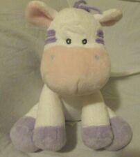PLUSH MUSICAL Zebra Pony Horse  RUSS WIND UP HEAD MOVES Purple White