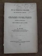 THESE FACULTE MEDECINE PARIS. CHANCRES SYPHILITIQUES EXTRA-GENITAUX. X. NIVET