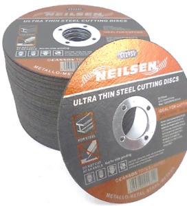 """PACK OF 10 - 115mm 4.5"""" ULTRA THIN STEEL METAL CUTTING BLADE DISCS 4 1/2"""" x 1mm"""