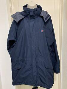 Berghaus Mens Navy Blue Gore-Tex Performance Shell Hoody Jacket Size XL VGC