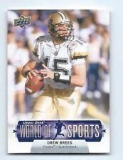 2011 Upper Deck World Sports Football Card DREW BREES New Orleans Saint Purdue