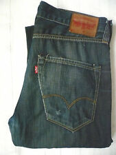 LEVI'S 520 JEANS MEN'S STRAIGHT LEG W32 L34 STRAUSS BLUE LEVF564