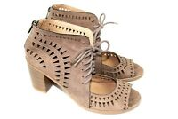 CANYON RIVER brand womens heel sandals size 11 m  lace front zipper back