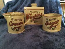 Vintage Creamer Jug, Sugar Bowl And Napkin Holder
