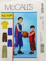 Boys T-shirt Pants Shorts Sewing Pattern M4820 3 4 5 6 McCalls