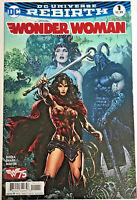 WONDER WOMAN#1 NM 2016 DC UNIVERSE REBIRTH DC COMICS