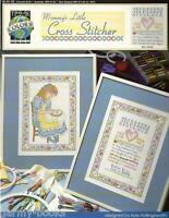 Mommy's Little Cross Stitcher True Colors Sampler Little Girl Stitch Pattern NEW