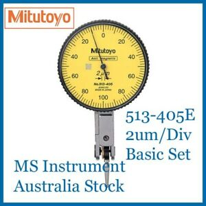 Genuine NEW Mitutoyo  513-405E 2um Dial Test Indicator Basic Set Australia Stock