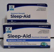 Nighttime Sleep Aid Diphenhydramine Softgels 32ct (Compare to Unisom SleepGels)