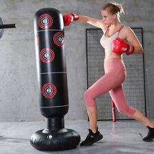 160cm Boxing Punch Bag Free Standing Inflatable Kick MMA Training Kids Adult AU
