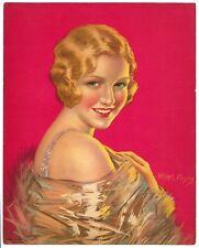 "American Beauty by Arthur L Muscon 1930s Glamour Girl art deco print 8"" x 10"" Ӝ"