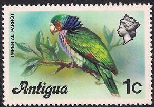 Antigua 1976 QE2 1ct Imperial Amazon Bird MM SG 470a ( H1079 )