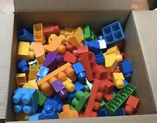 LOT 250 MEGA Blocks FIRST BUILDERS Building Blocks Various Colors Sizes Shapes