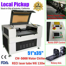 51x35 Reci 130w Co2 Laser Engraver Cutter Electric Lifting Worktable Fdaampce
