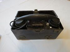 phone TP 25 Field Military communications vintage RARE Czech Army TP25 box port