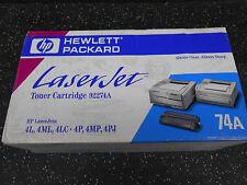 1 HEWLETT PACKARD LASERJET TONER CARTRIDGE 92274A