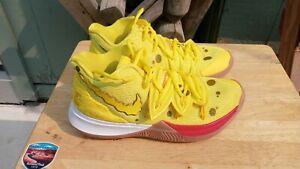 Nike Kyrie 5 size 8 26cm Yellow Spongebob Nickelodeon Basketball Shoes