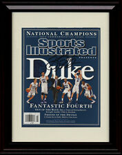 Framed Duke Blue Devils Sports Illustrated Autograph Replica Print 2010 Champs